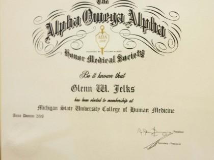 Honor Society Alpha Omega Alpha